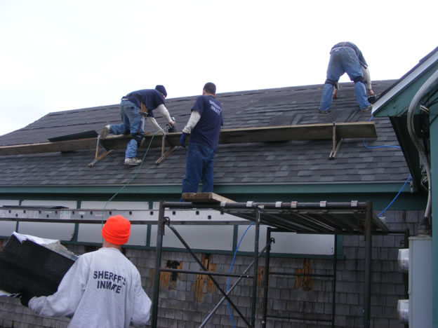 inmates on a cold dark roof 1