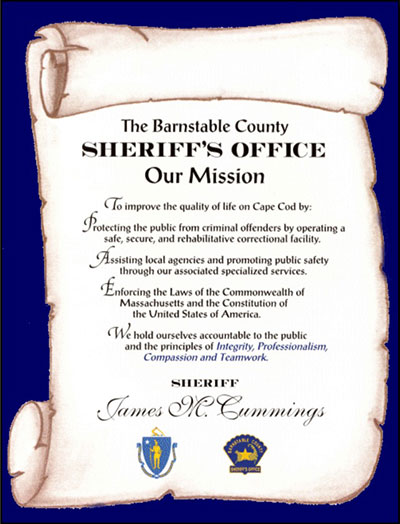 Barnstable County Sheriff Mission Statement