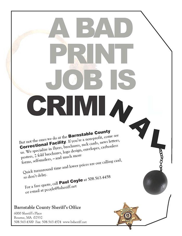 Barnstable County Correctional Facility Print Shop