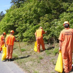 Cape Cod Prisoners Road Clean Up