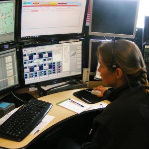 dispatcher at computers