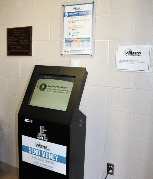 Inmate funds kiosk