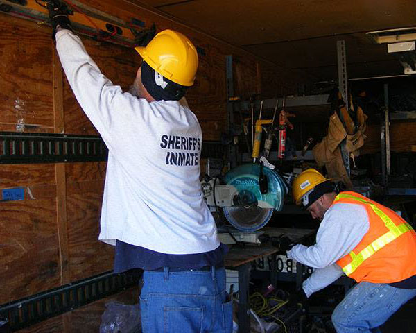 inmate Interior work crew