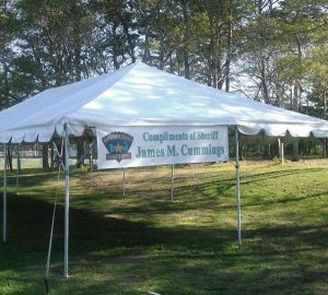 Cape Cod Sheriff's Office Tent