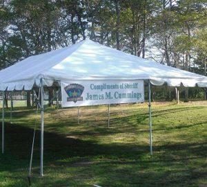 Cape Cod Sheriff's Office Tent
