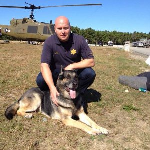 correction officer and german shepherd