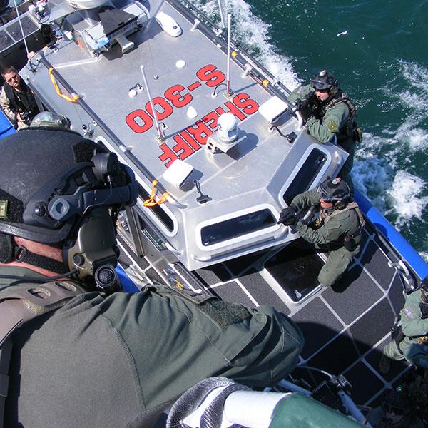marine combat unit boarding ship